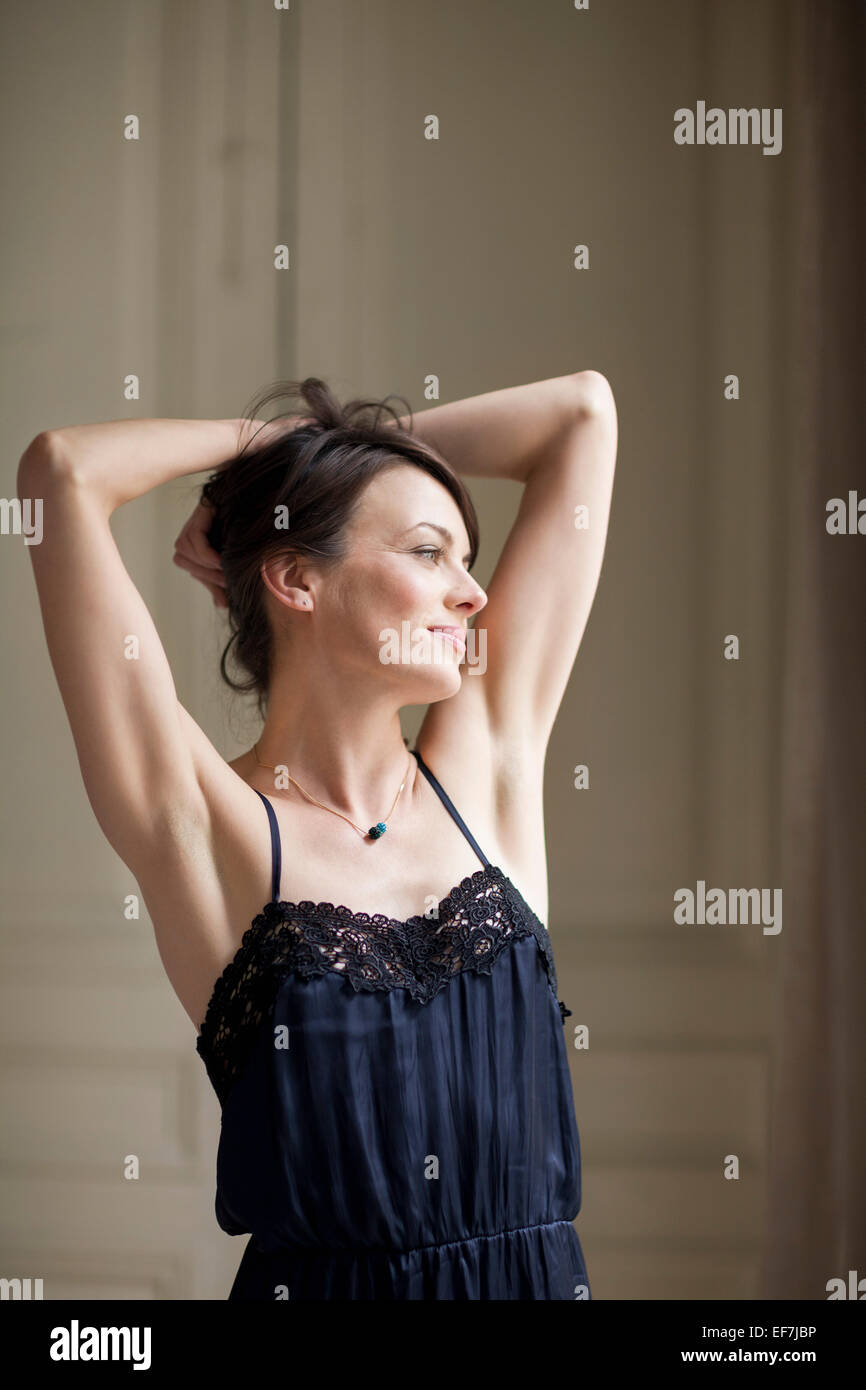 Portrait d'une belle femme Photo Stock