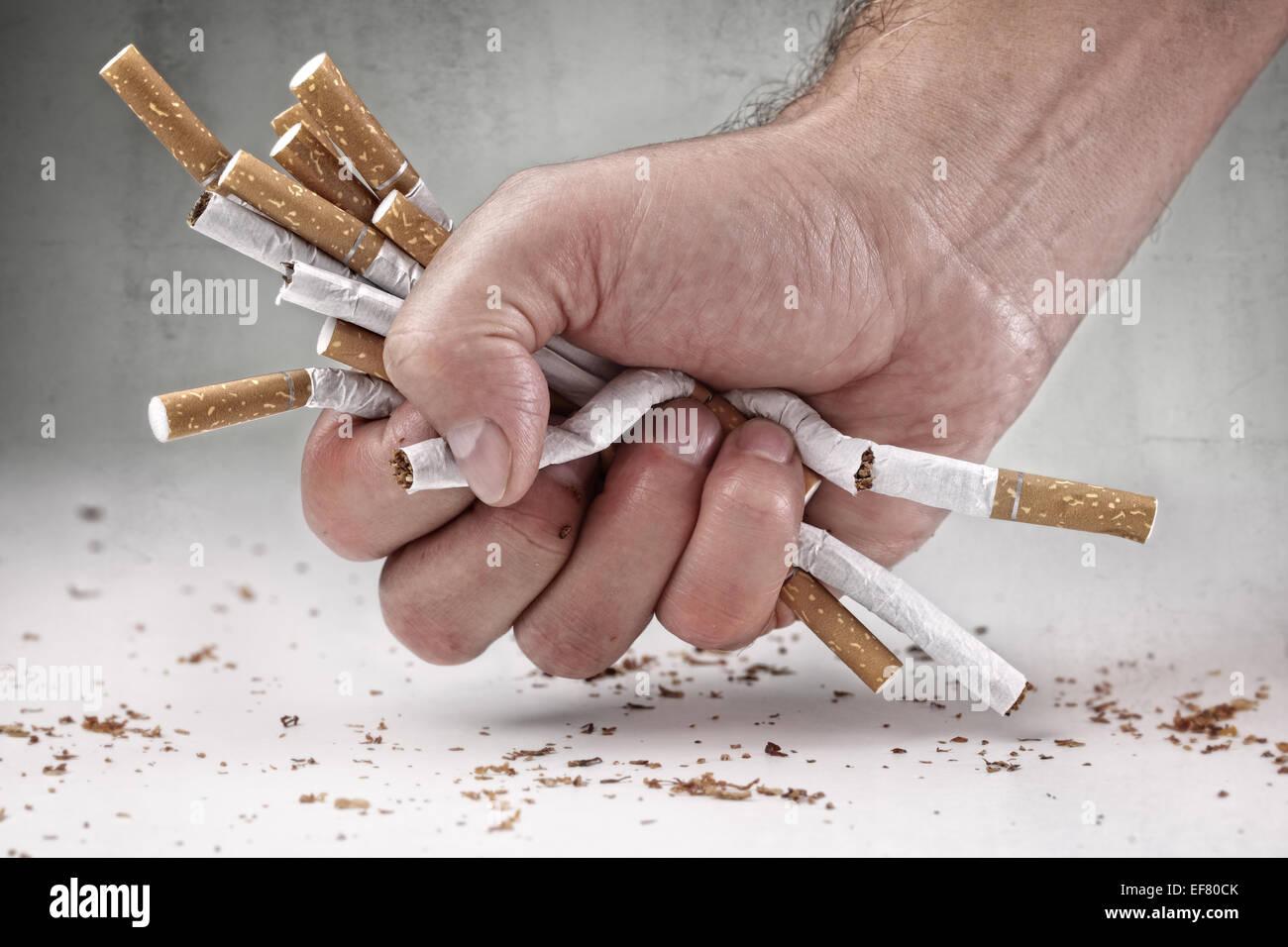 Arrêter de fumer Photo Stock