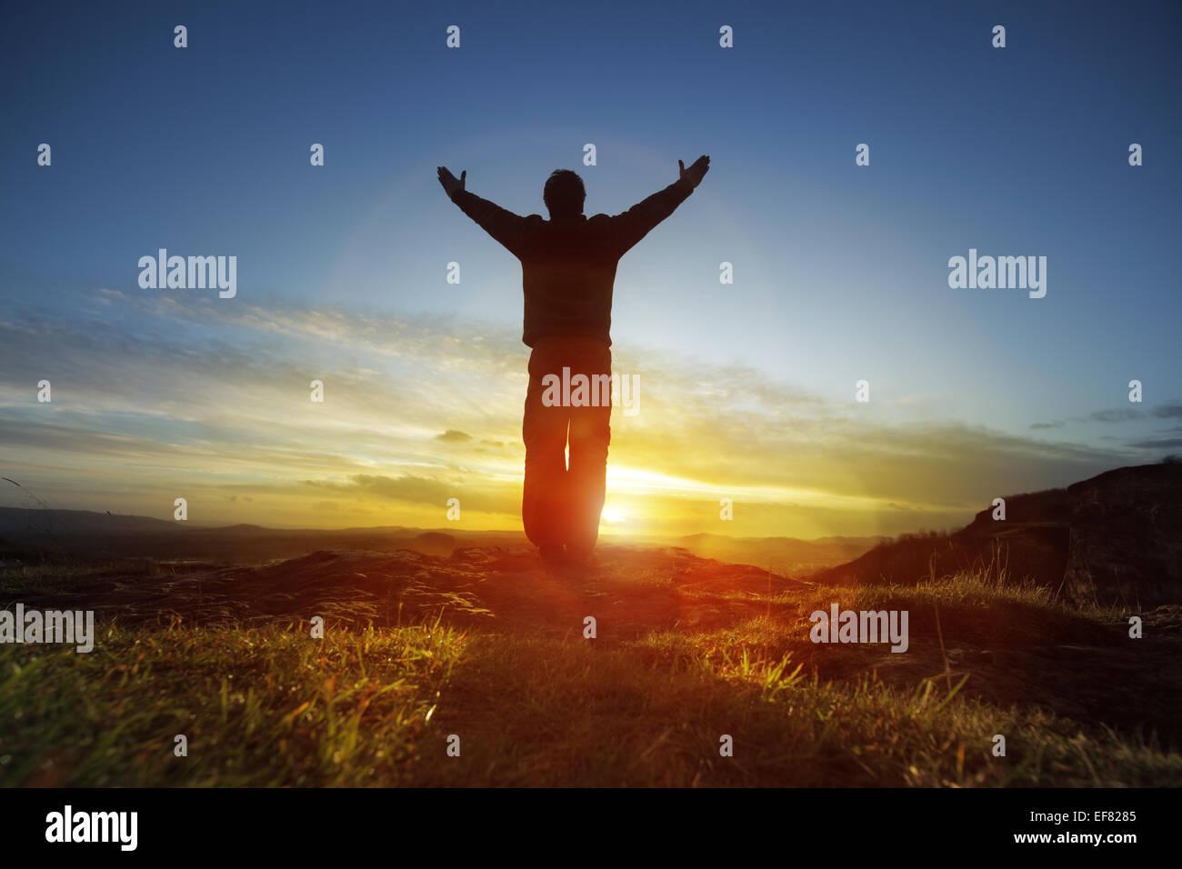 Adoration et louange Photo Stock