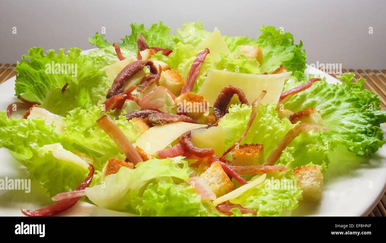 Salade fraîche studio photos, grand pour l'alimentation et gastronomie thèmes. Photo Stock