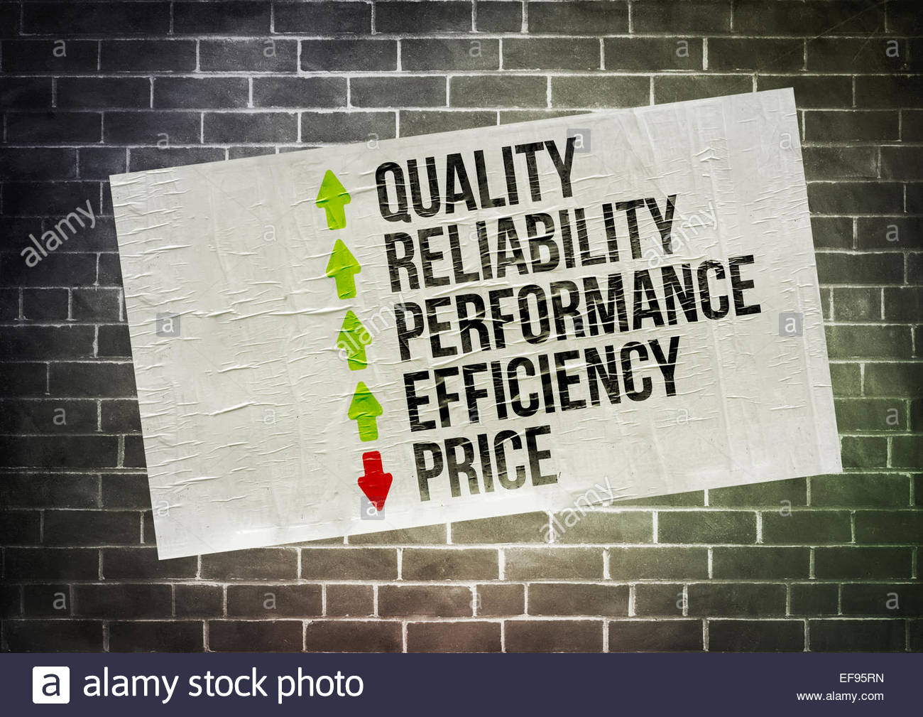 La stratégie de marché d'affaires Photo Stock