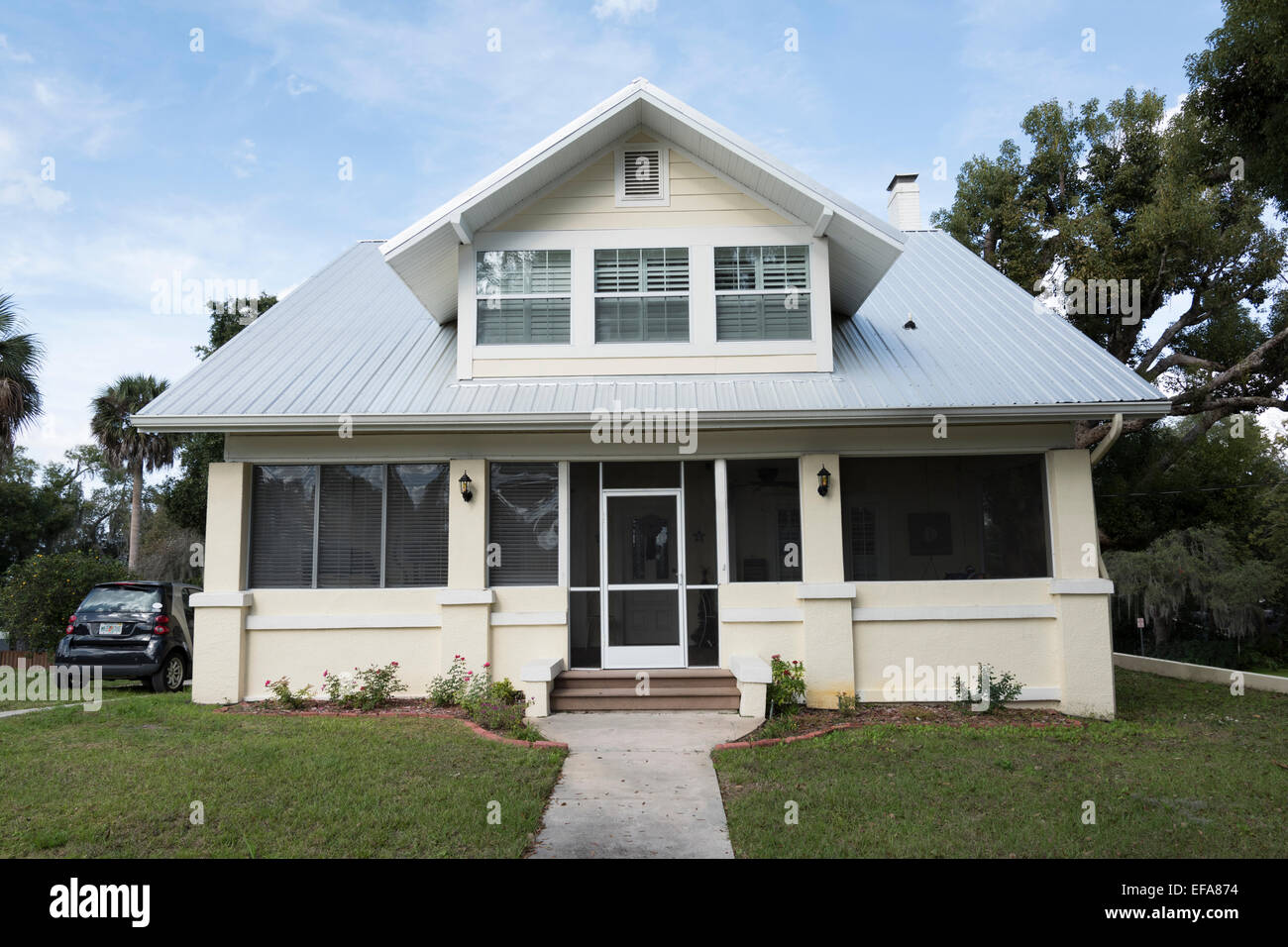 Maison typique de la Floride, Clermont, Lake County, Floride, États-Unis Photo Stock