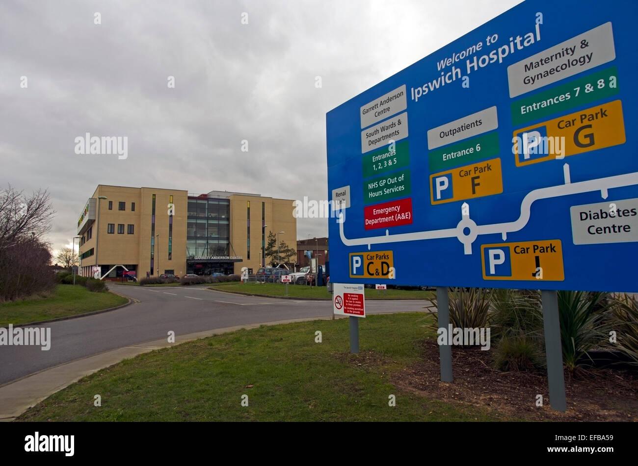 L'Hôpital d''Ipswich Suffolk Photo Stock