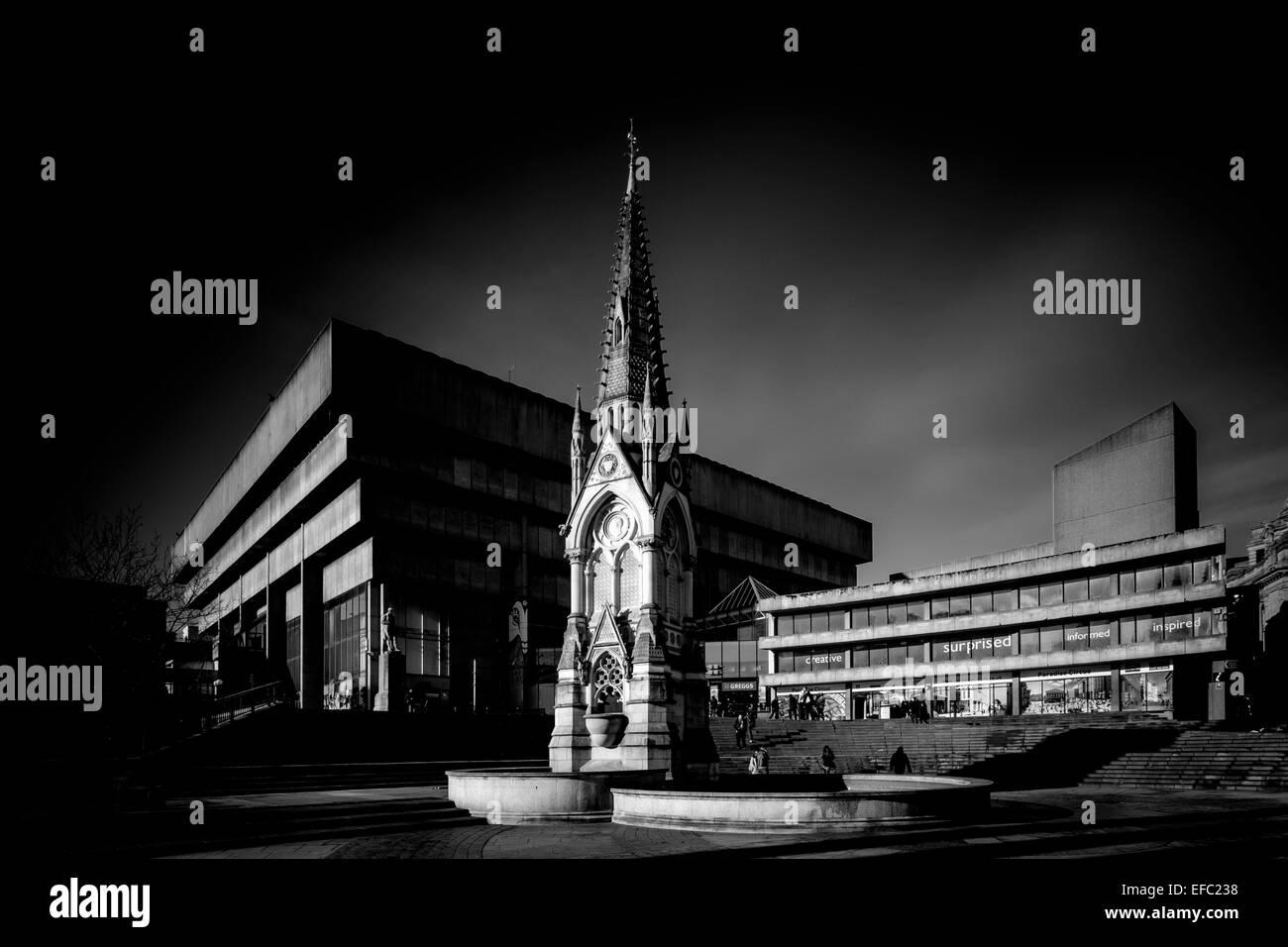 L'ancienne bibliothèque (avant la démolition) dans Chamberlain Square, Birmingham, Birmingham.. Photo Stock