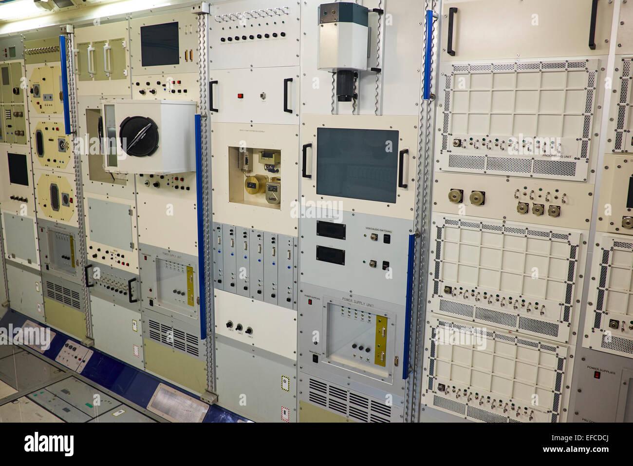 Maquette du module Columbus de la Station spatiale internationale National Space Centre Leicester UK Photo Stock