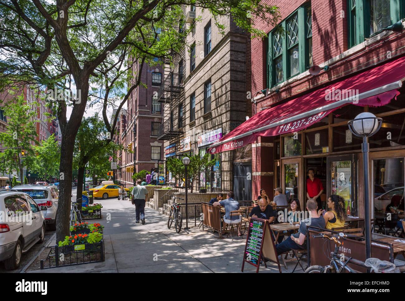 Restaurant sur Montague Street à Brooklyn Heights, Brooklyn, New York, NY, USA Photo Stock