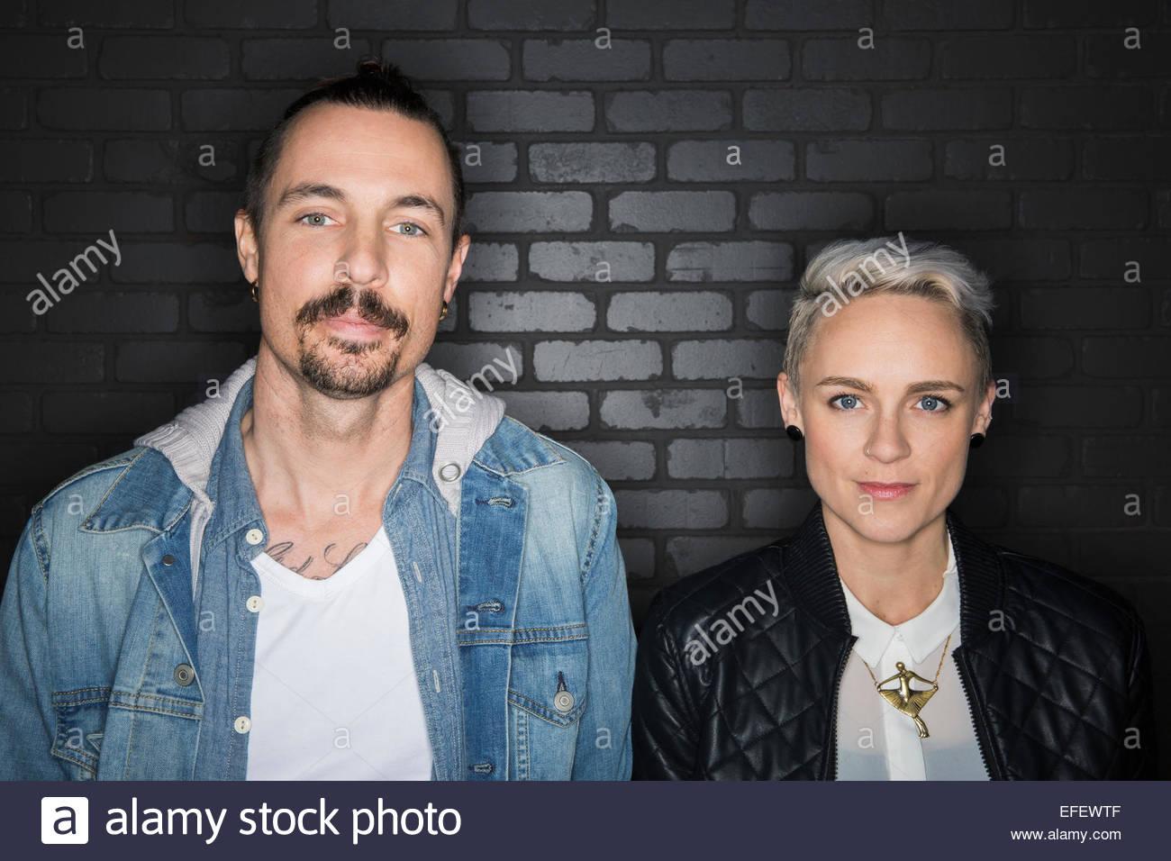 Couple Cool côte à côte Photo Stock
