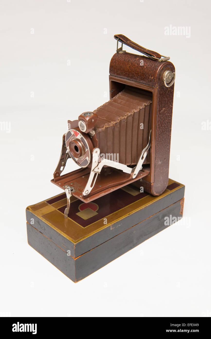 Eastman-Kodak Company 1A Modèle de cadeaux, l'appareil photo conçu pour la saison de Noël 1930, Photo Stock