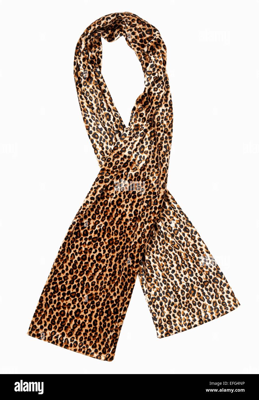 Foulard léopard Photo Stock