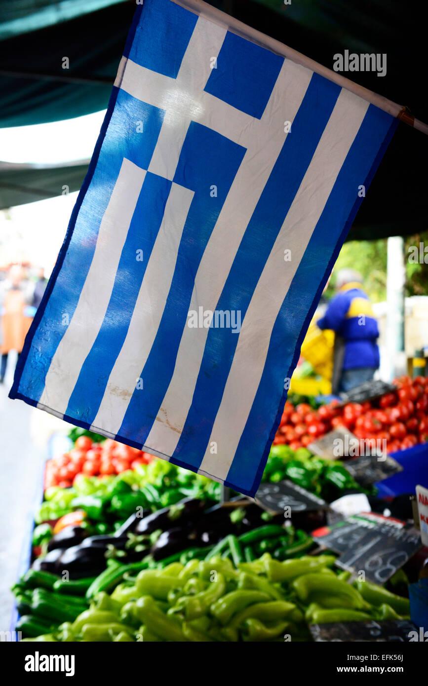Le nationalisme grec à la hausse après le janvier 2015 élections. Photo Stock