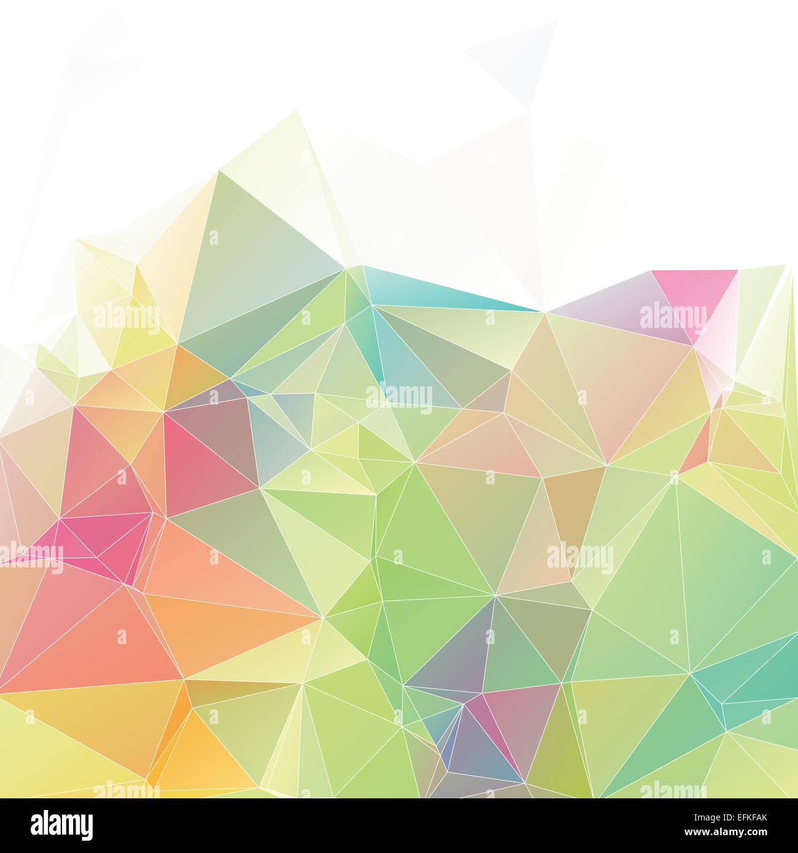 Polygone avec pastel géométrique triangle forme paramétrique Photo Stock