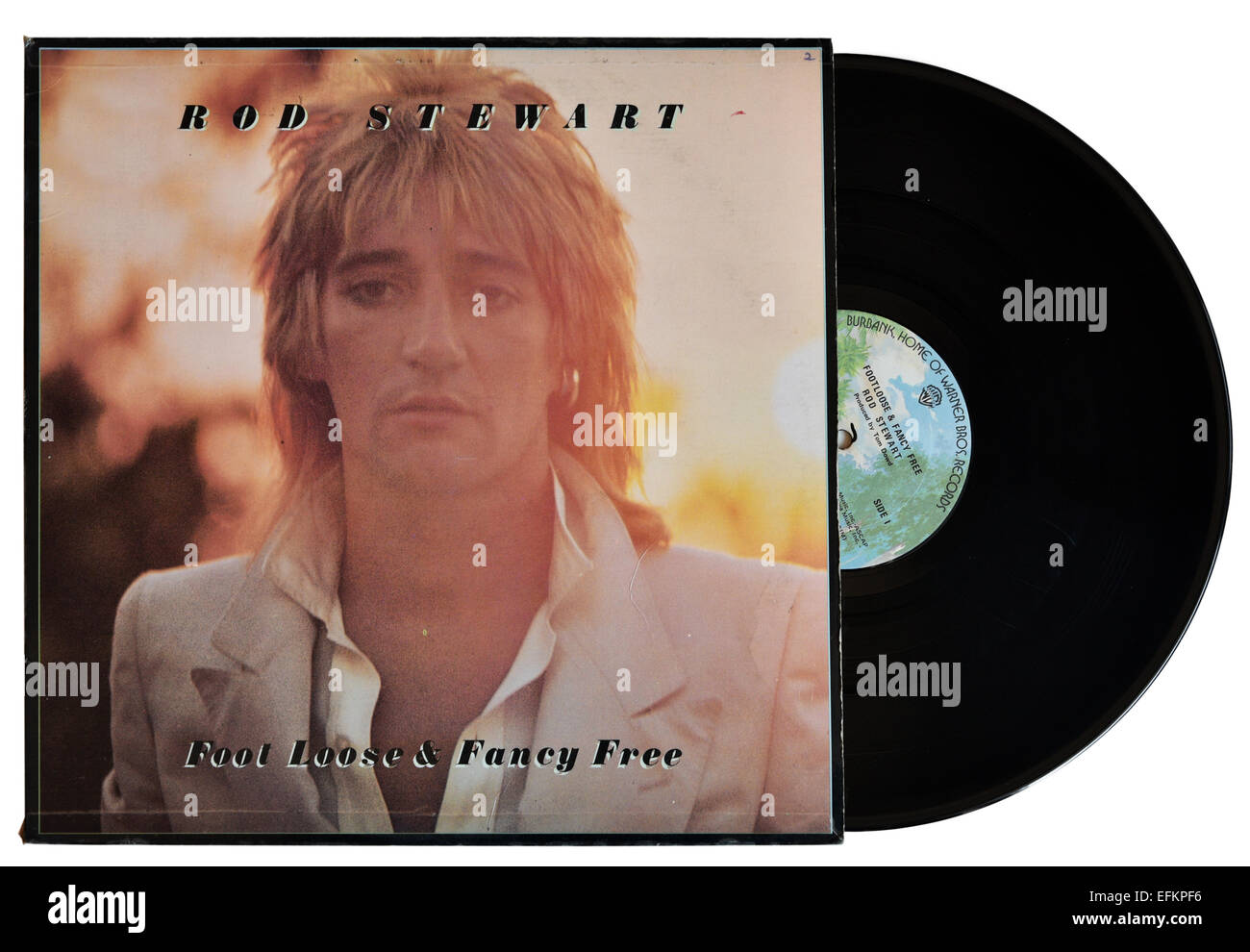 Rod Stewart lâche pied libre et de fantaisie album Photo Stock
