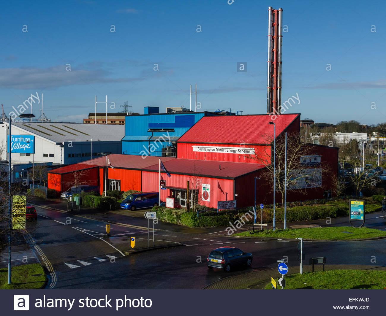 Janvier 2015 Régime d'énergie de quartier de Southampton la chaleur géothermique resource Photo Stock
