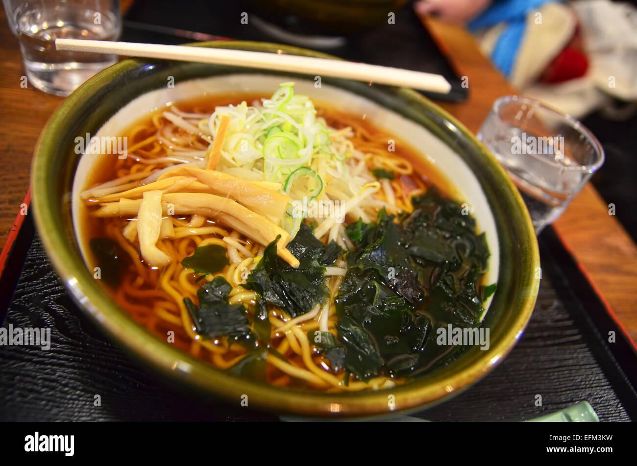 Un bol de Ramen Shoyu Photo Stock