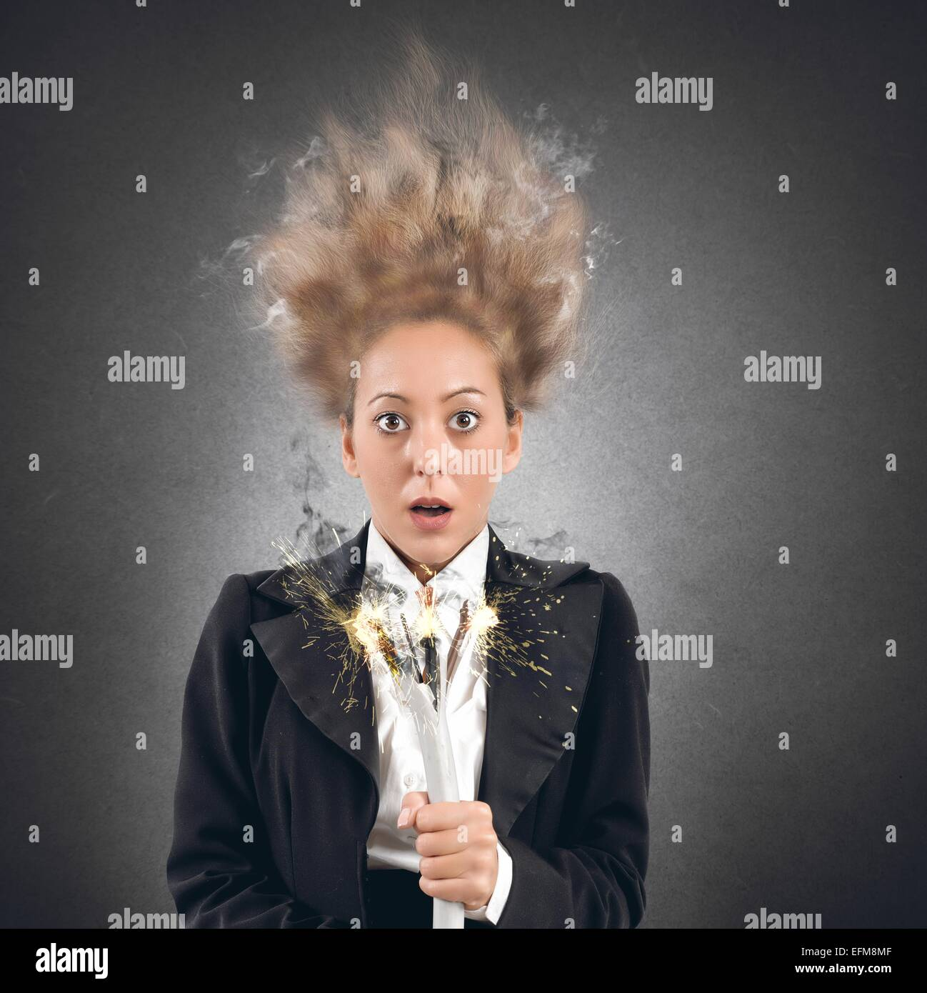 Femme de choc Photo Stock