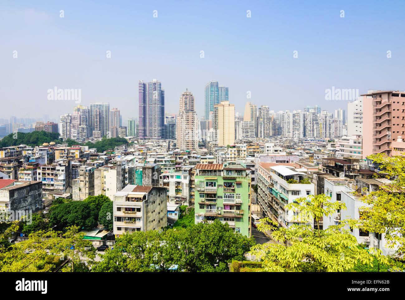 Skyline de Macao, Chine Photo Stock