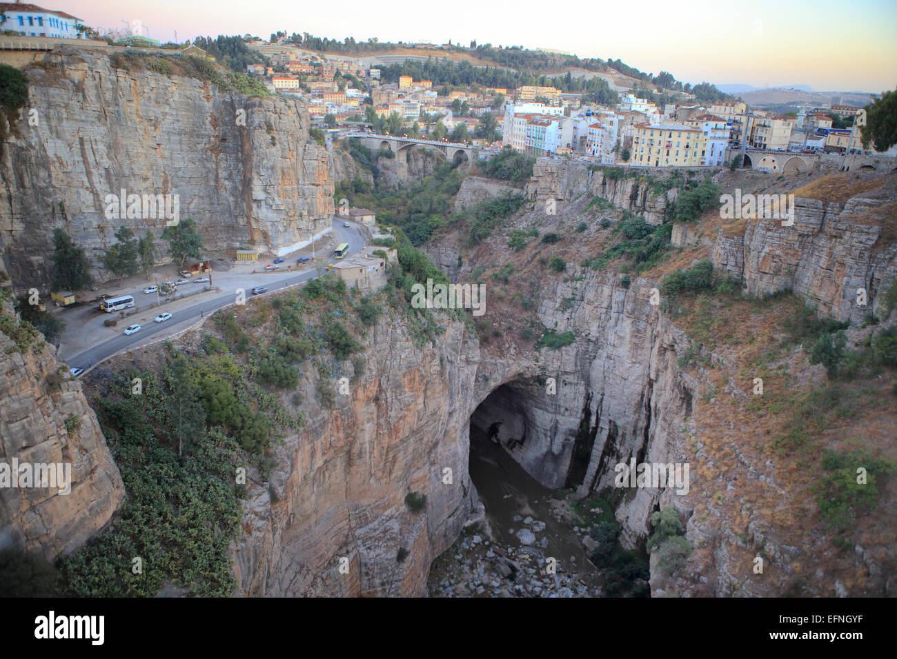 Rhummel river canyon, Constantine, Algérie Photo Stock
