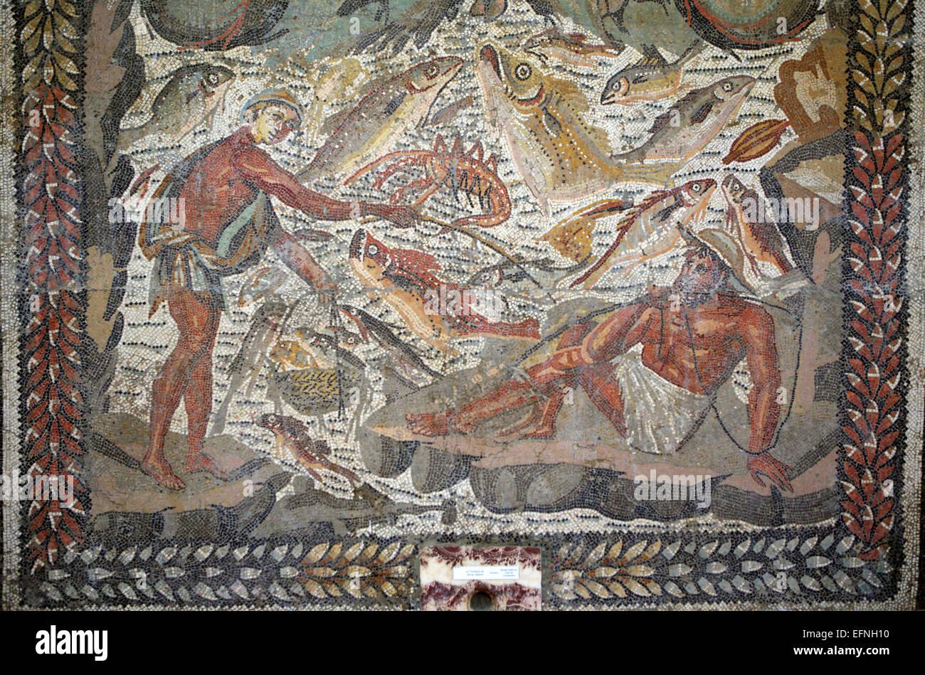 Mosaïque romaine, Constantine, Algérie Photo Stock