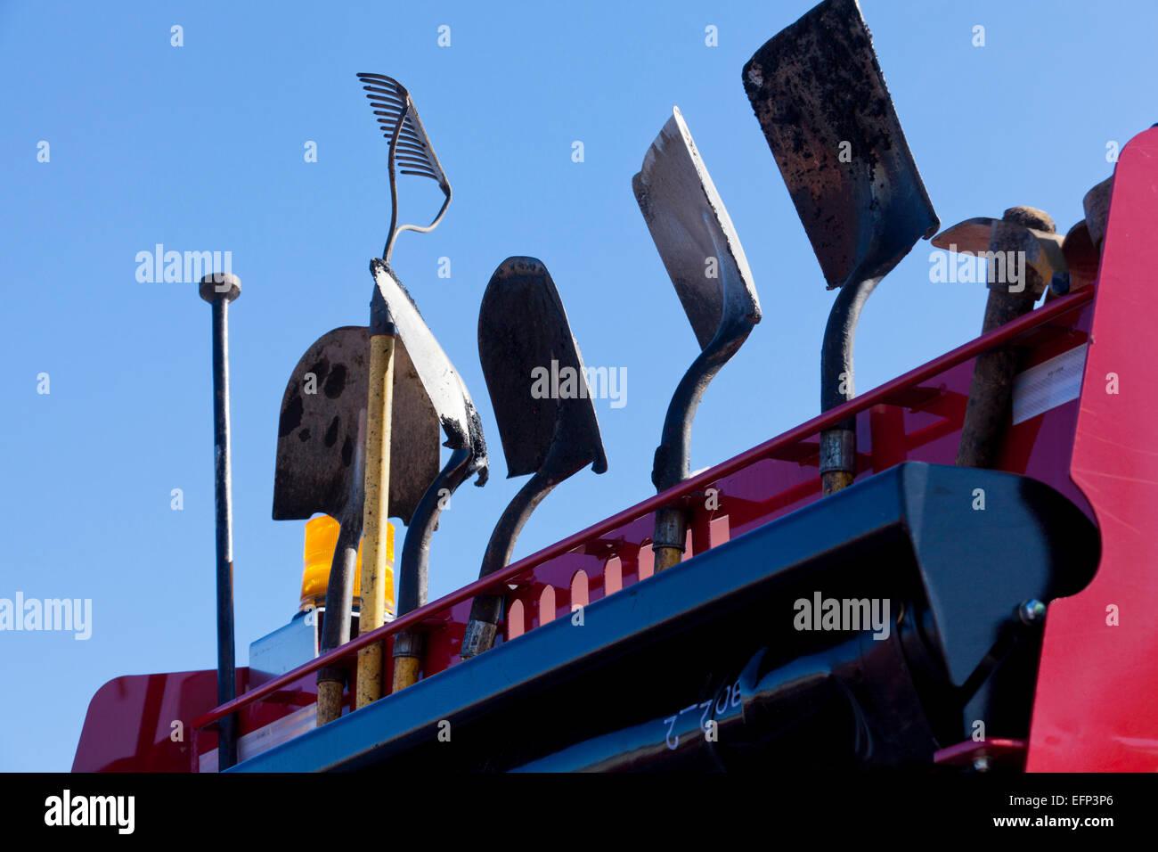 Pelles monté sur camion aménagement paysager - USA Photo Stock