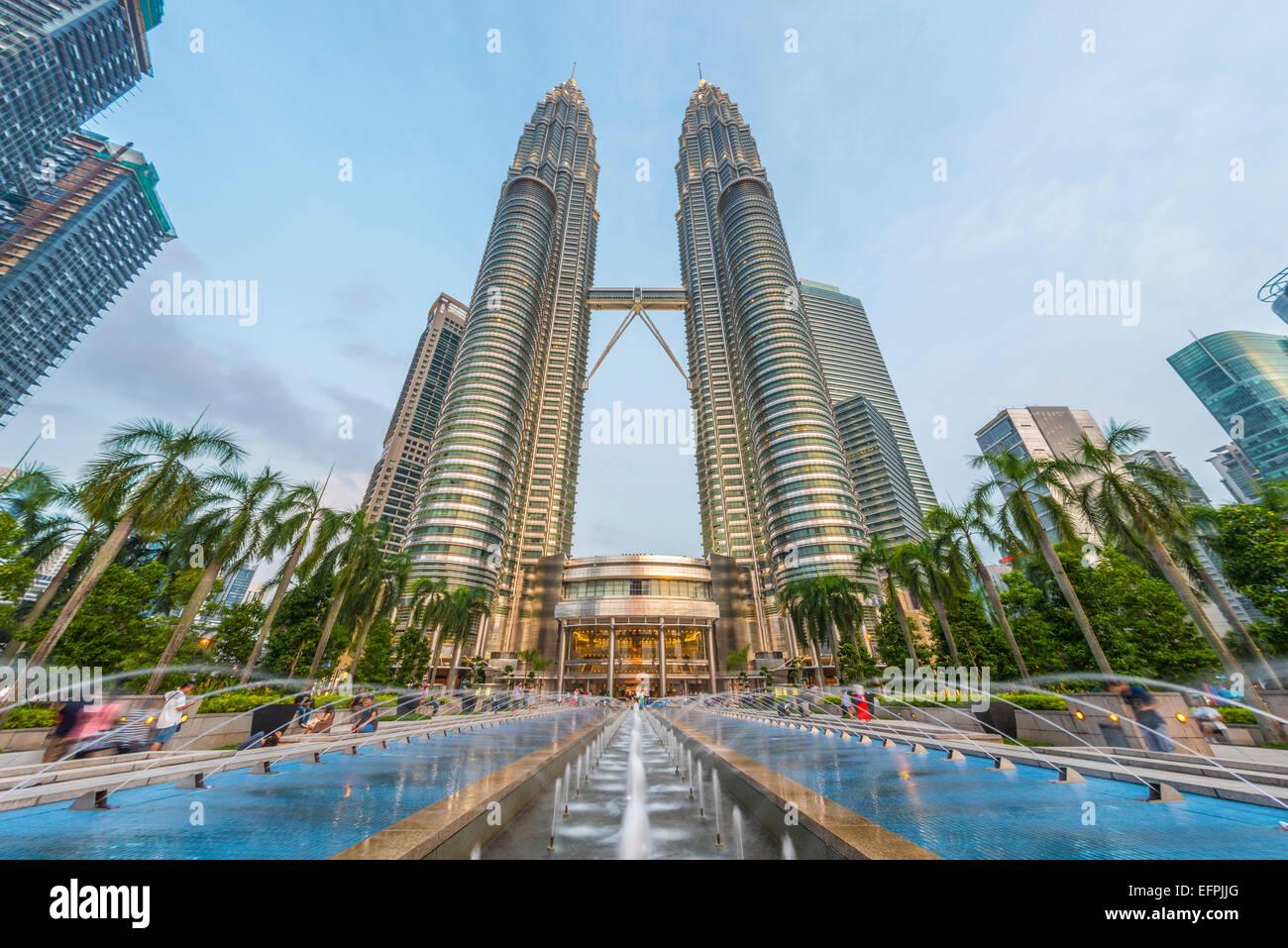 Les Tours Petronas, Kuala Lumpur, Malaisie, Asie du Sud, Asie Photo Stock