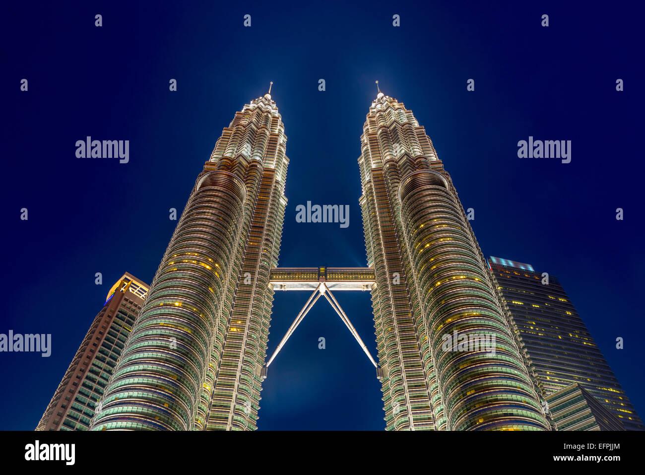 Les Tours Petronas, Kuala Lumpur, Malaisie, Asie du Sud, Asie Banque D'Images