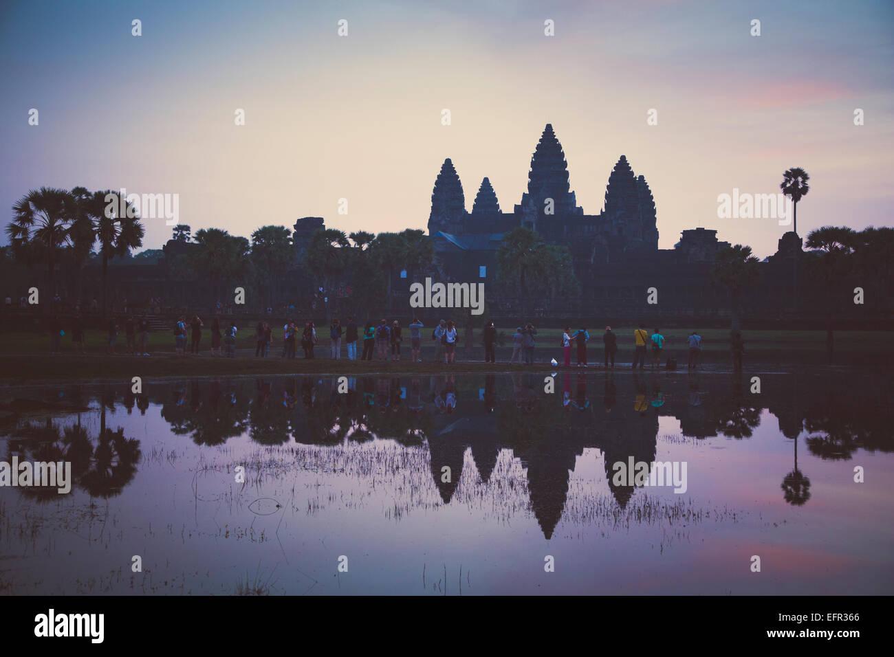 Temple d'Angkor Wat, Angkor, au Cambodge. Photo Stock