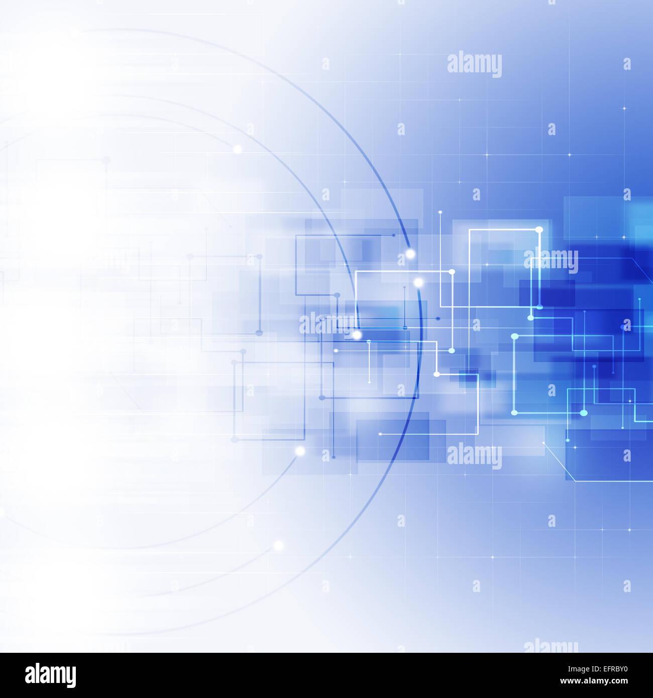 La technologie de connexion réseau mondial abstrait fond bleu Photo Stock