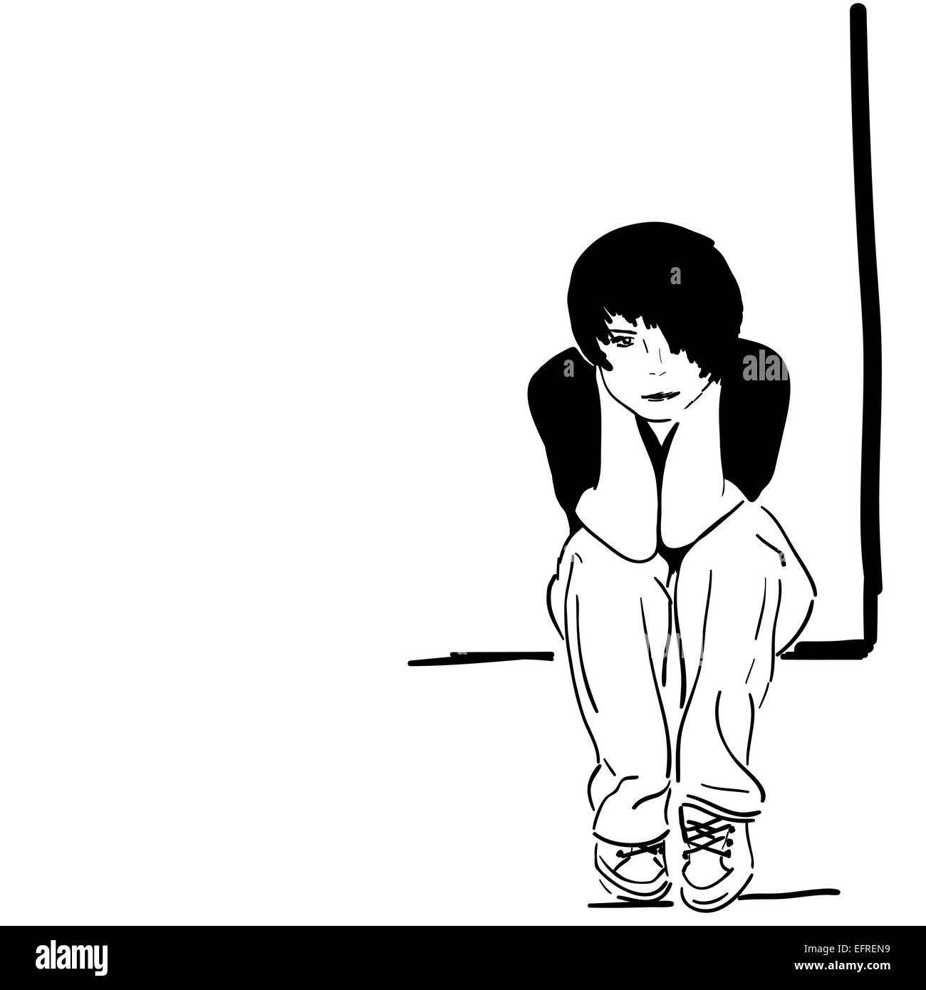 Illustration Pretty Sad Girl Photos Illustration Pretty