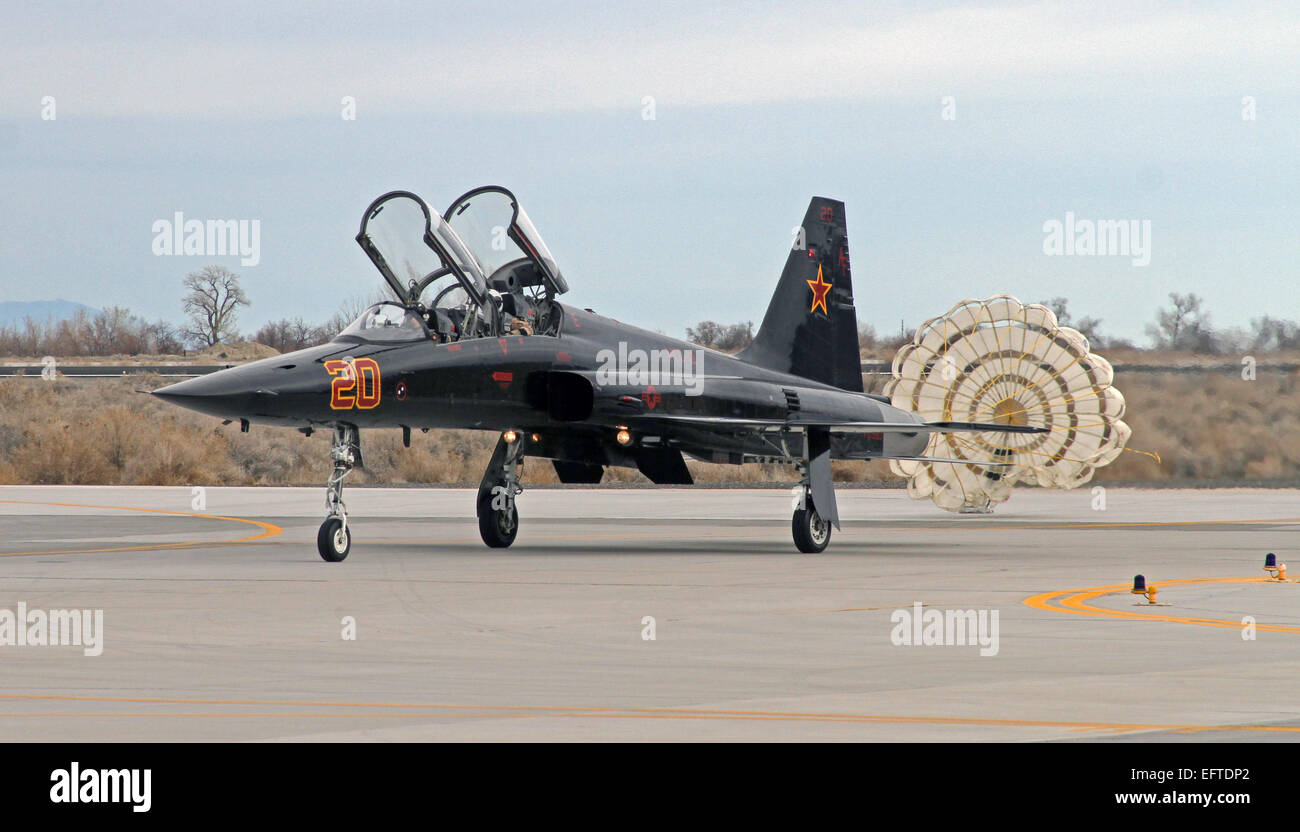 US Air Force F-5 Tiger II joint à la chasse de l'Escadron de chasse de Saints 13 Composite un taxi après Photo Stock