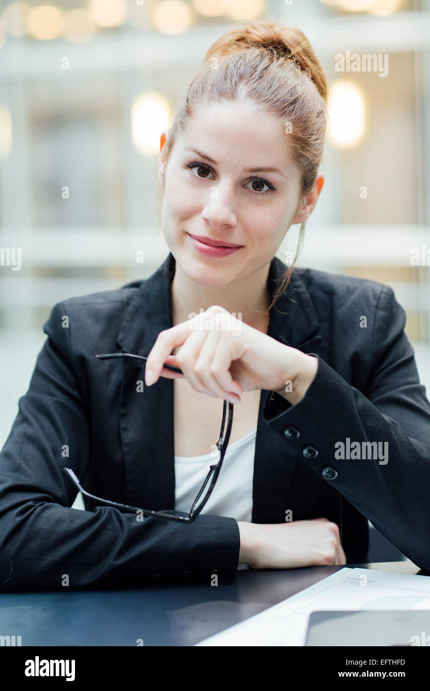 Portrait of businesswoman Photo Stock
