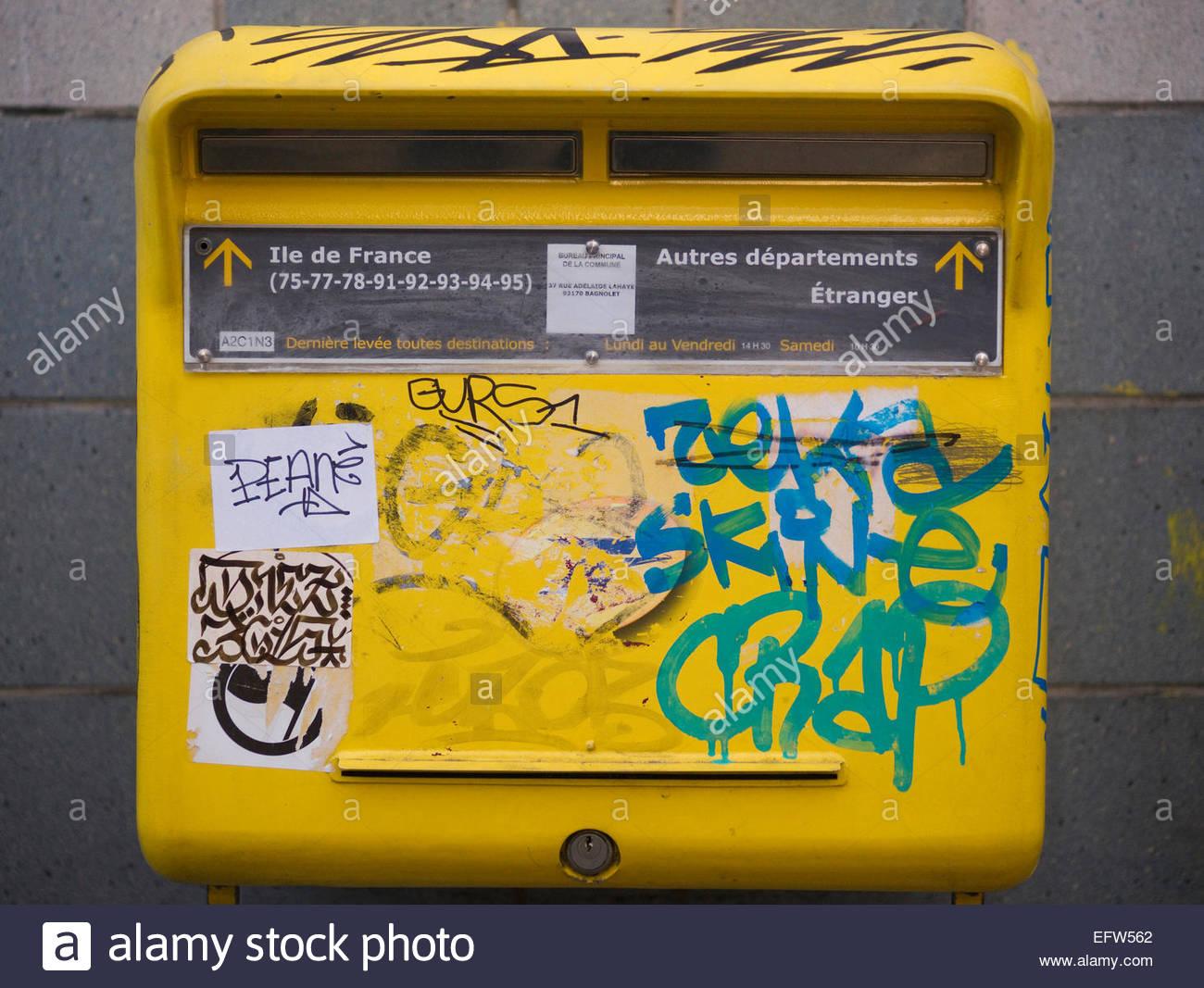 Boite Aux Lettres Boite Aux Lettres Jaune Poste Postal Boites Aux