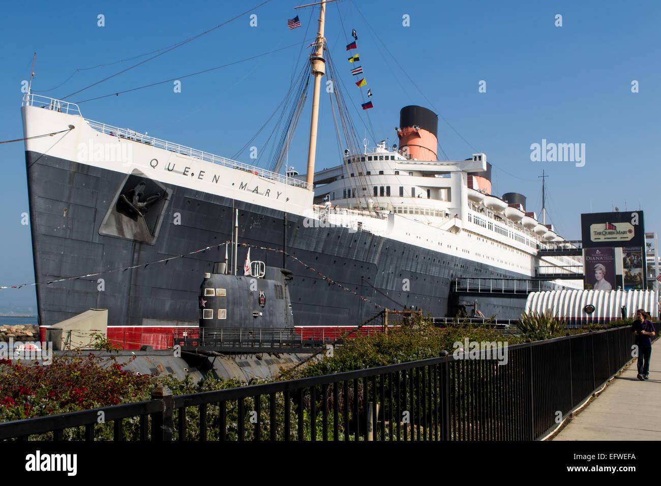 RMS Queen Mary à Long Beach California USA Banque D'Images