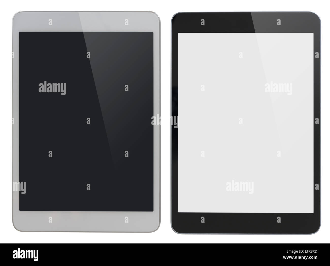Tablet PC moderne similaire à l'ipad with clipping path isolés inclus Photo Stock