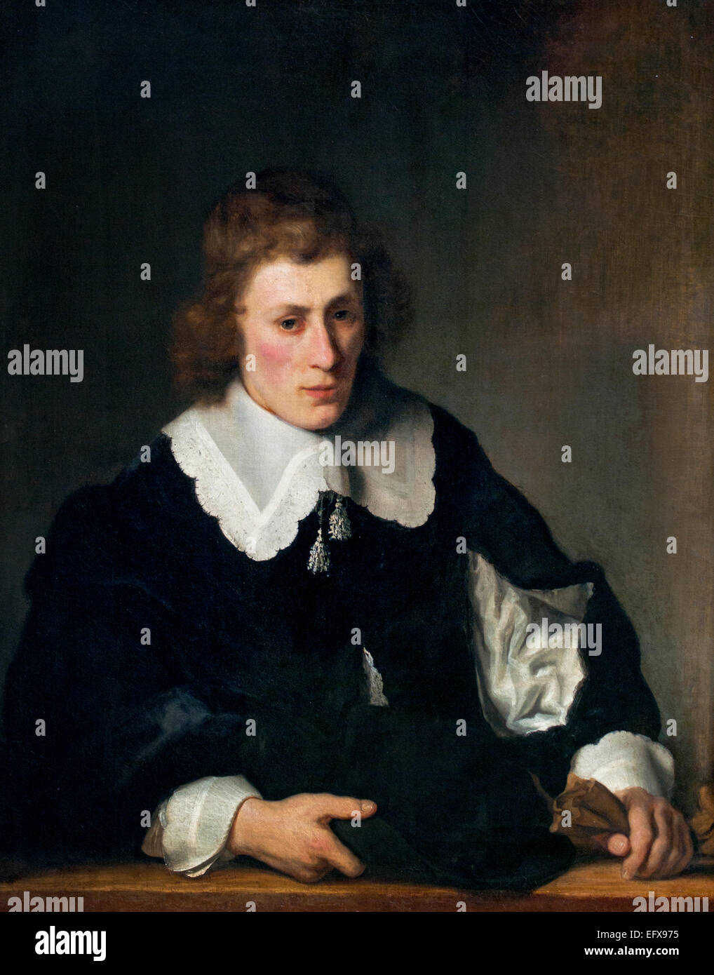 Portrait d'un jeune homme 1644 Ferdinand Bol Néerlandais Pays-Bas 1616-1680 Photo Stock