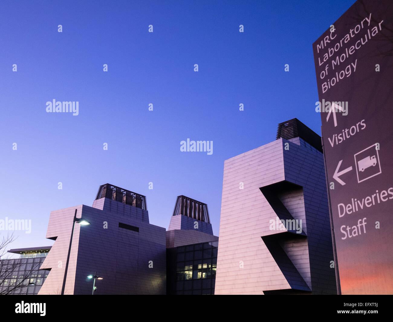 Università Campus Cambridge - Laboratoire de Biologie moléculaire du Medical Research Council de Cambridge Photo Stock