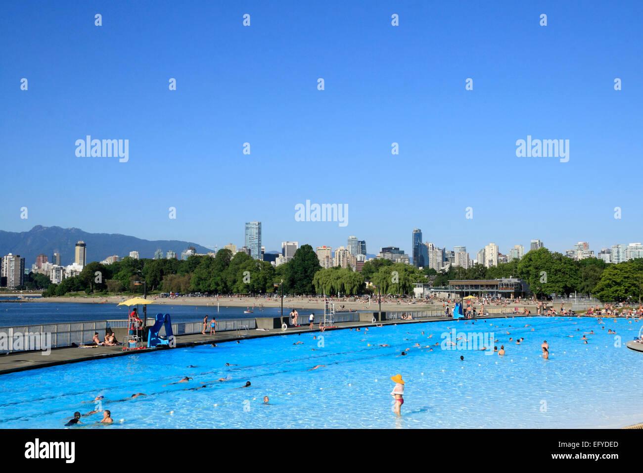 Piscine Kitsilano, Vancouver, British Columbia, Canada Photo Stock