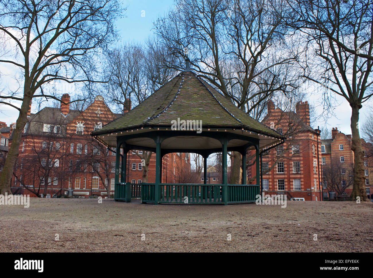 En kiosque Arnold Circus, Londres, Angleterre Photo Stock