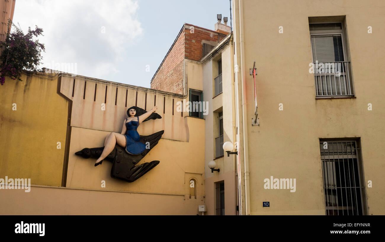 L'art de rue dans la vieille ville de Perpignan dans le sud-ouest de la France, l'accueil de la Visa pour Photo Stock