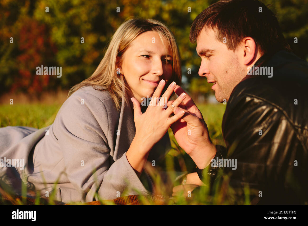 Jeune beau couple Photo Stock