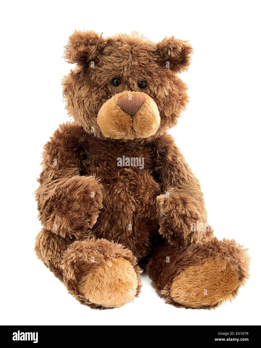 Découper l'image de l'ours en peluche jouet mou Photo Stock