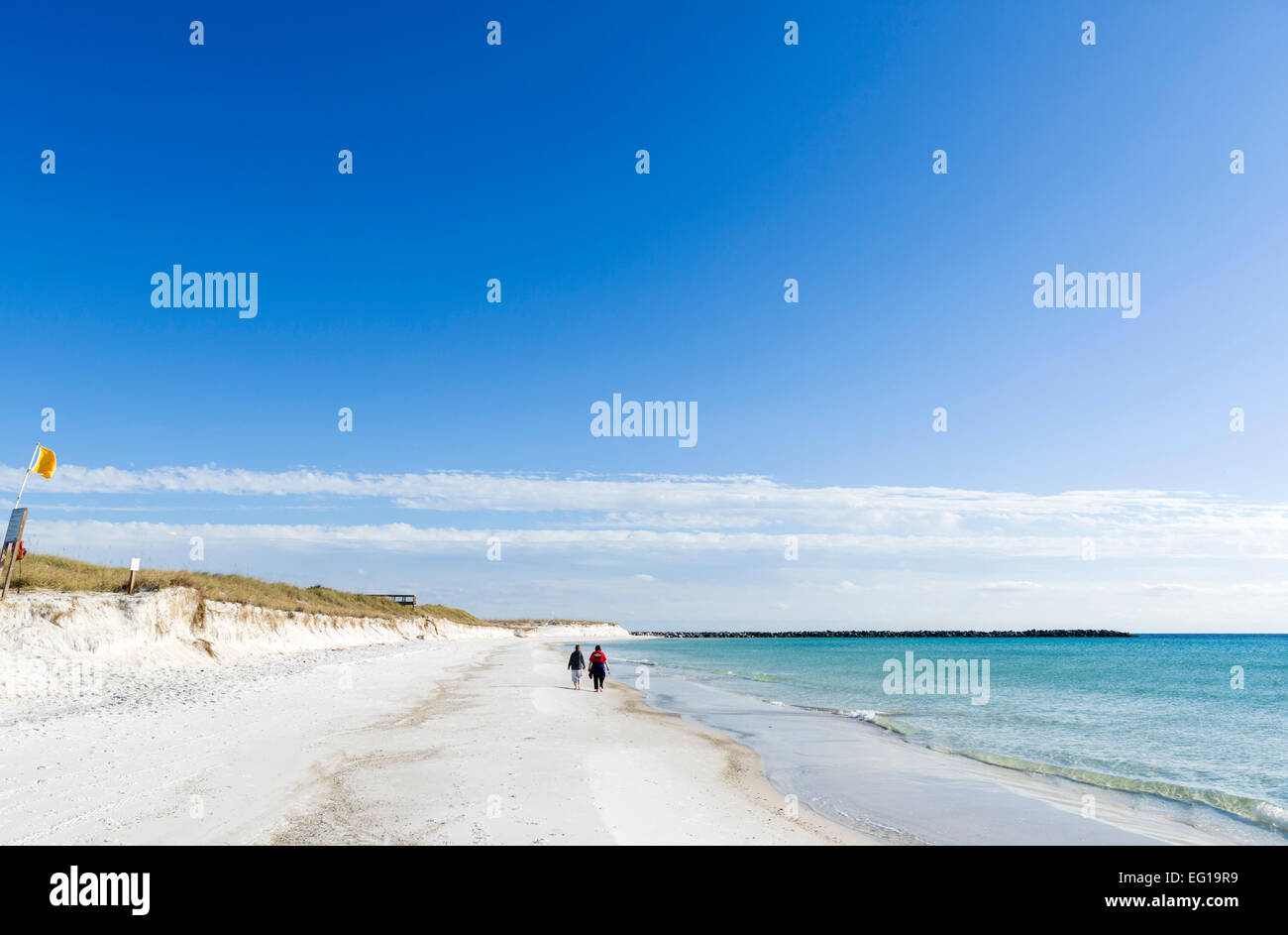 La plage de St Andrews State Park, Panama City Beach, Floride, USA Photo Stock