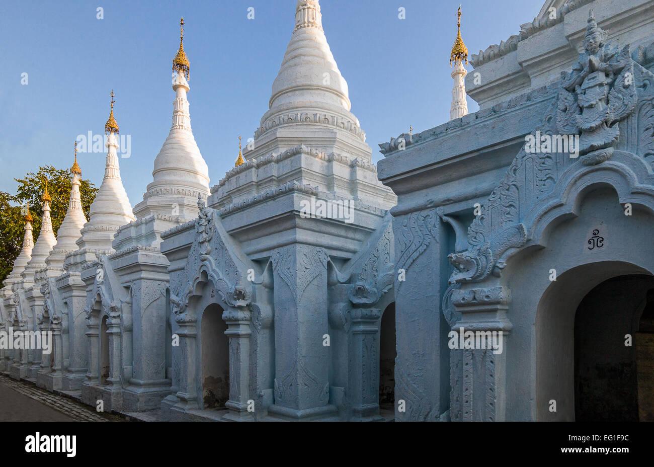 Le Myanmar Mandalay Le Temple Kuthodaw Paya Connu Comme
