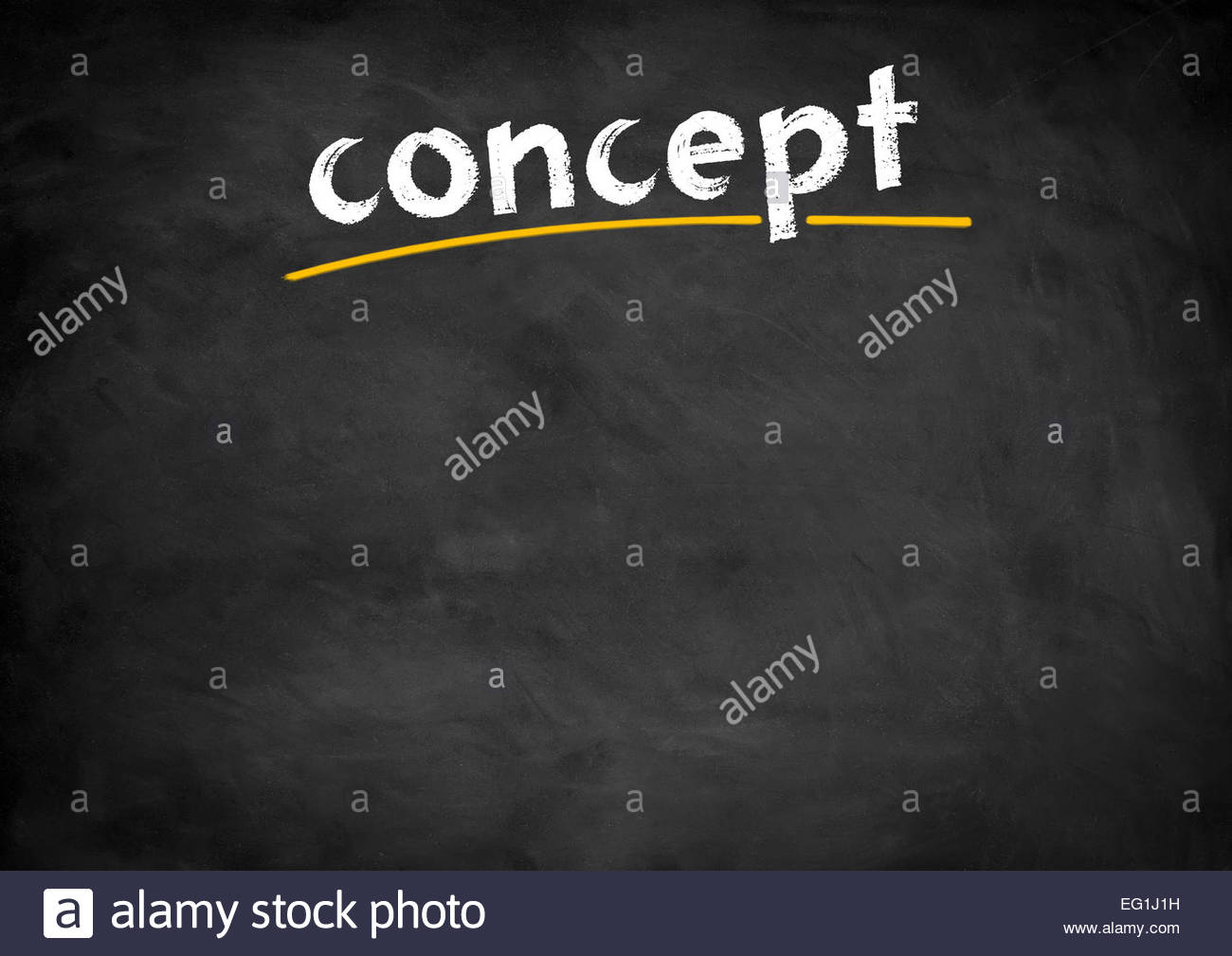 Concept Concept chalkboard Photo Stock