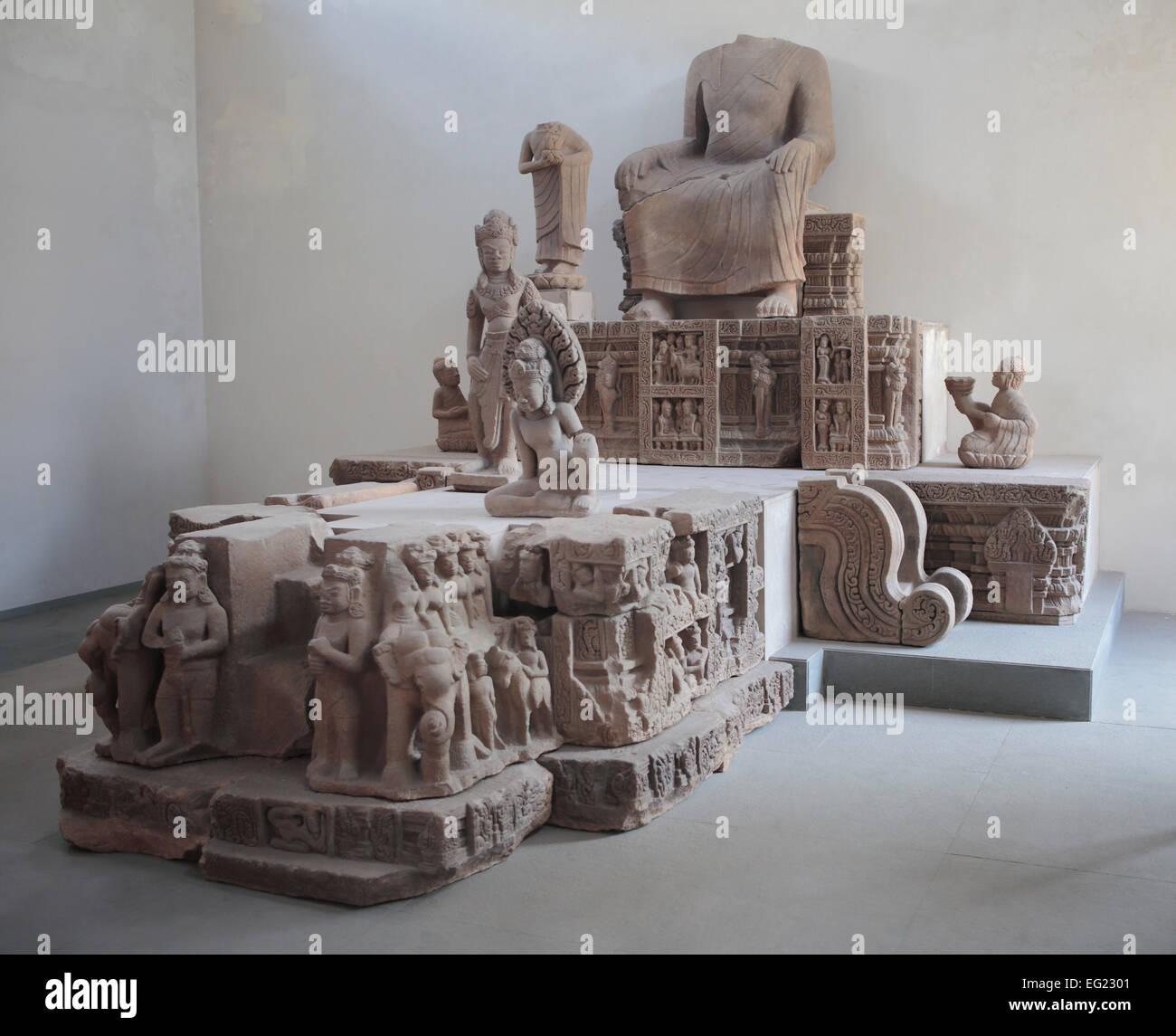 Museum of Cham Sculpture, Da nang, Vietnam Photo Stock