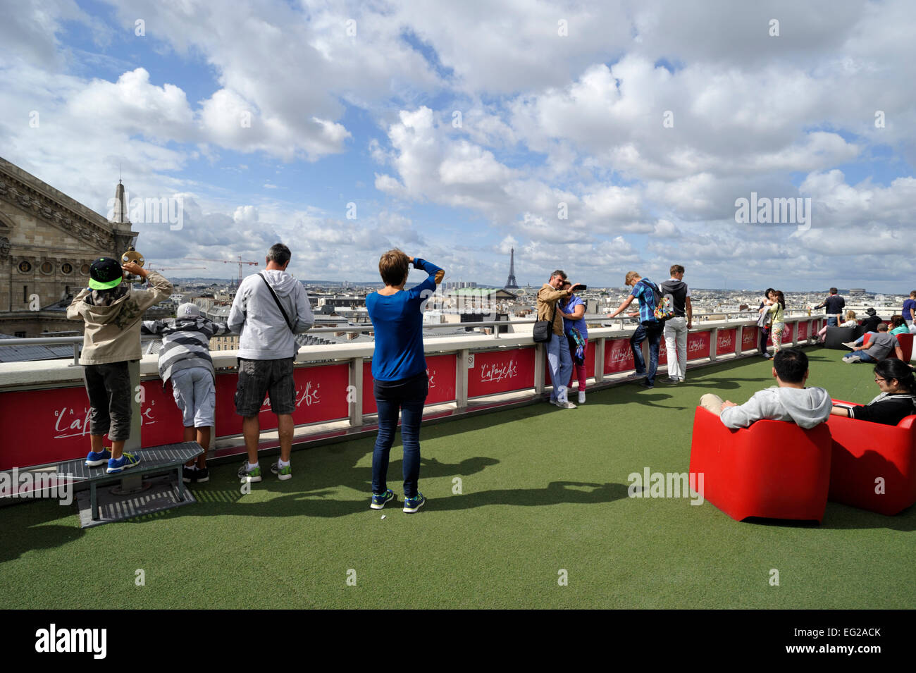 Paris, galeries lafayette, roof garden Photo Stock