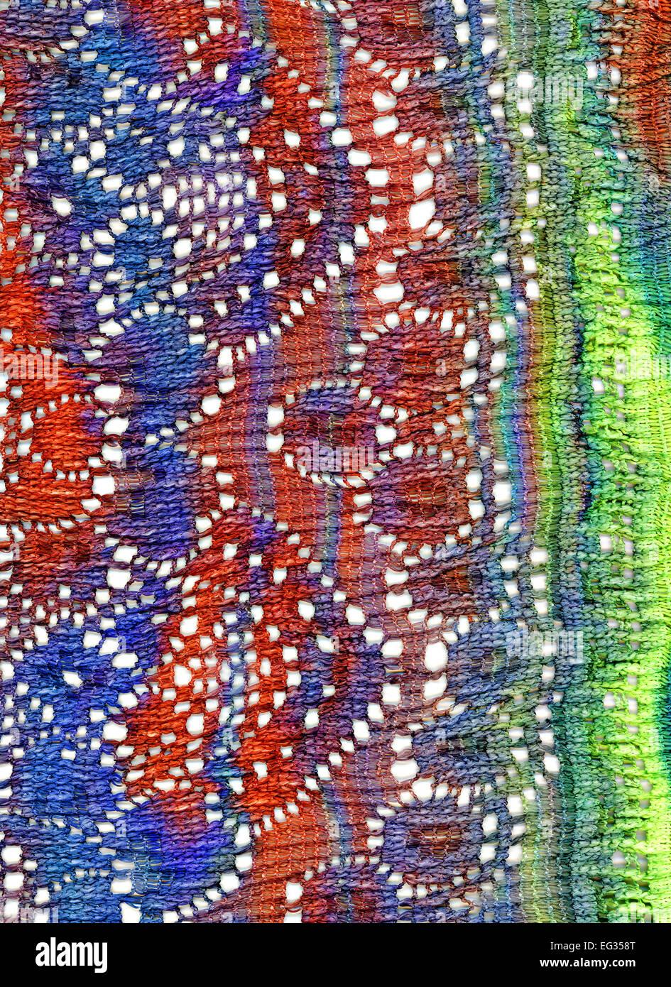 Tissu filet de couleur lumineux extrêmement différents Banque D'Images