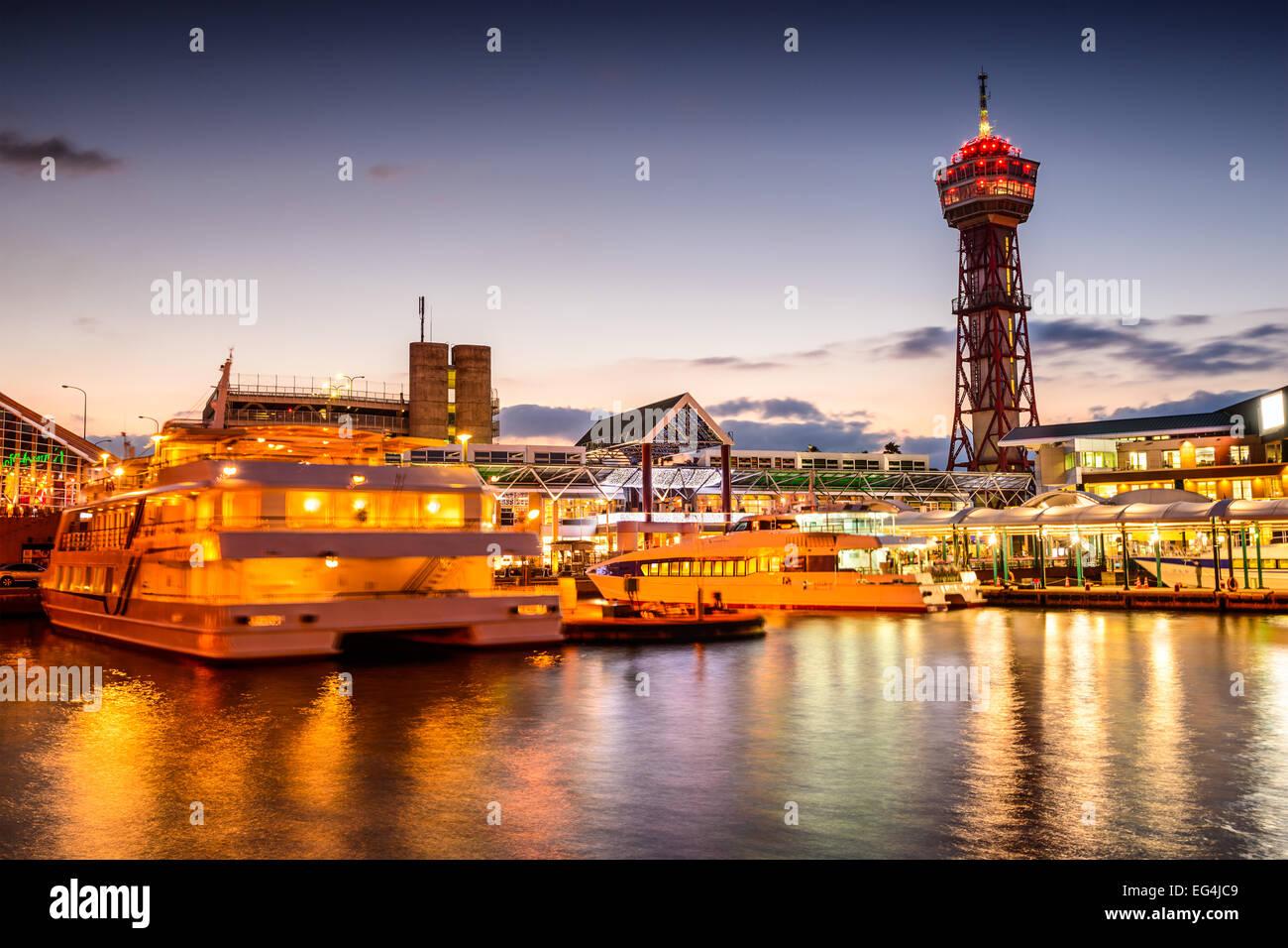 Fukuoka, Japon à Bayside lieu d'horizon. Photo Stock