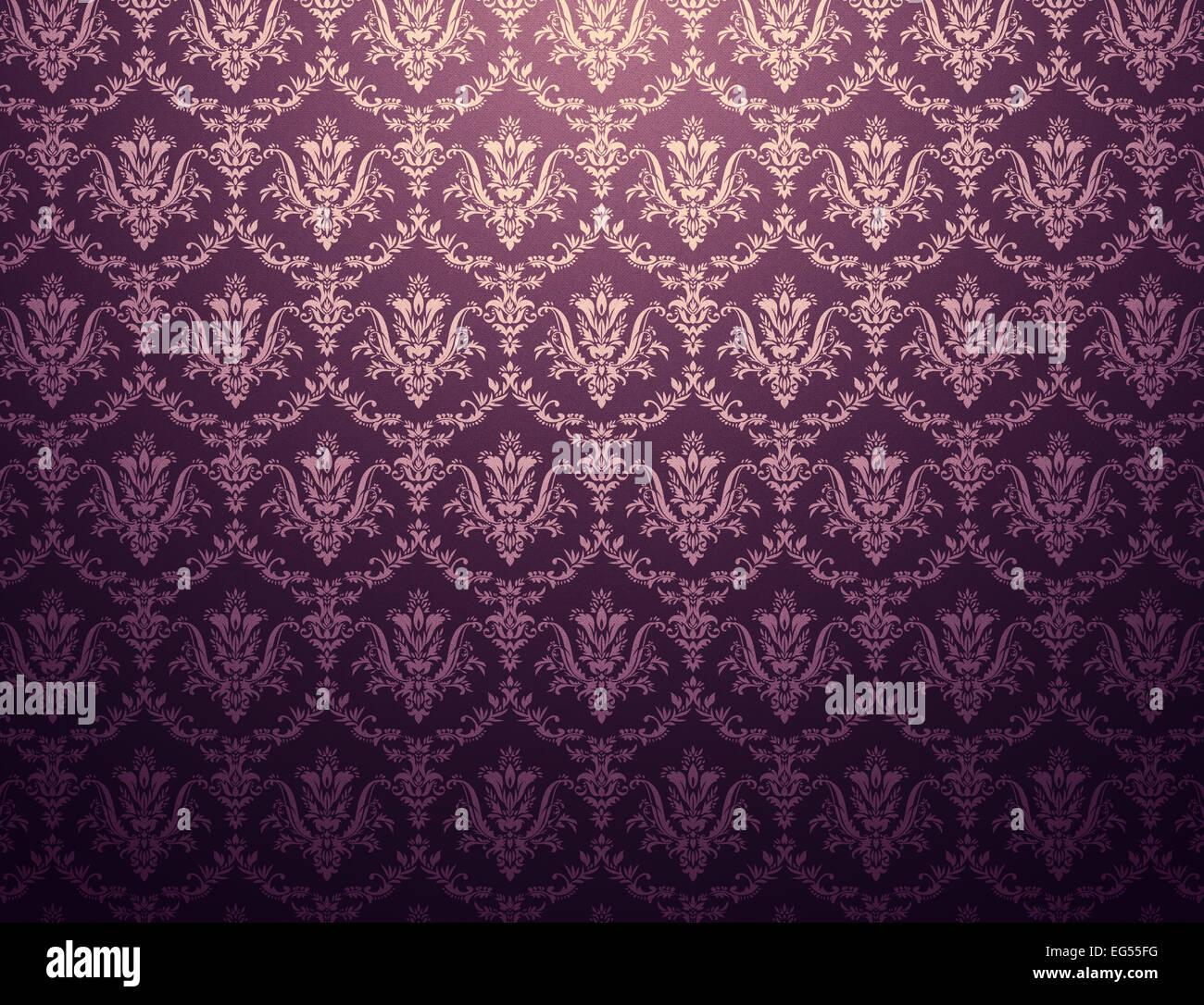 Fond d'écran violet foncé avec motif floral doré Banque D'Images, Photo Stock: 78790084 - Alamy