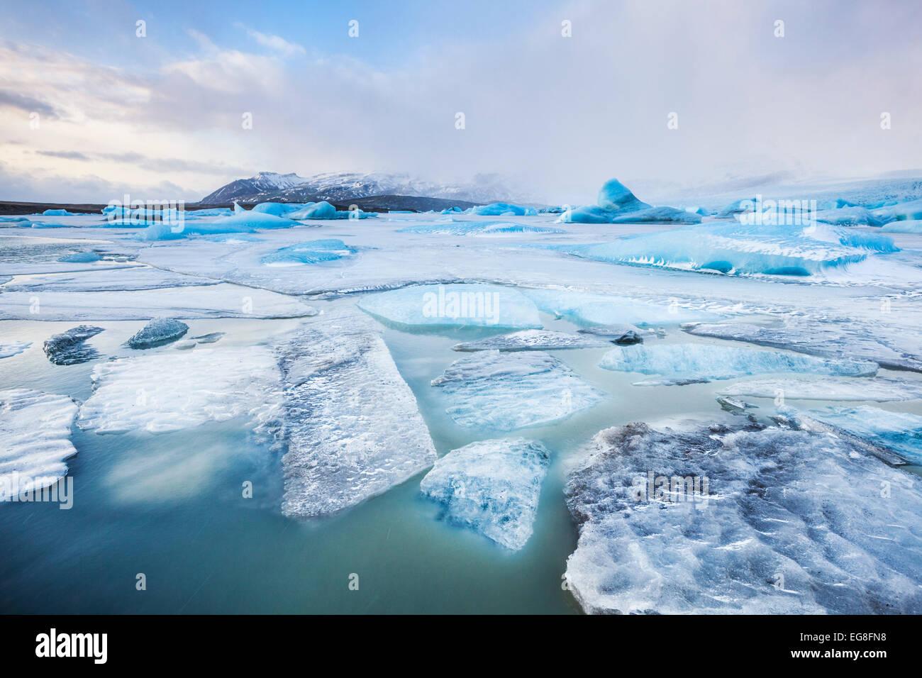 Glacier Fjallsarlon lagoon Islande Europe du sud-est Photo Stock