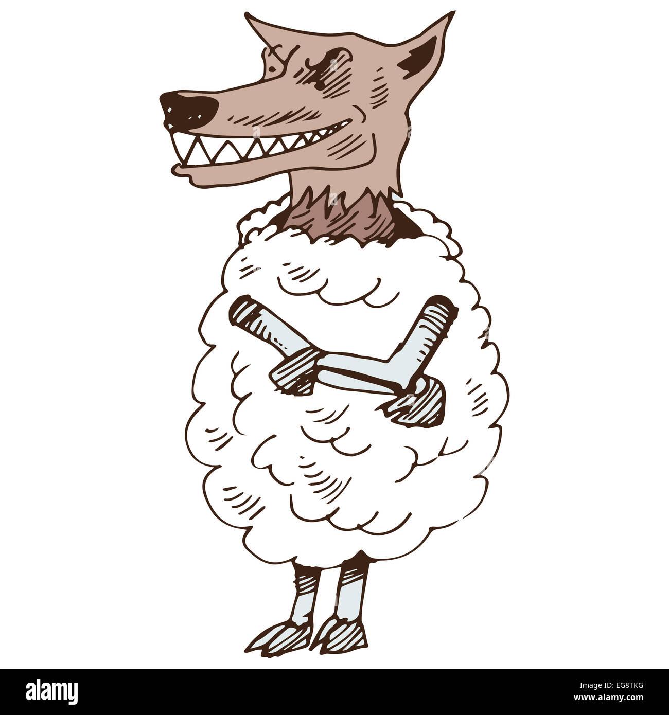 L Image D Un Loup Deguise En Agneau Banque D Images Photo Stock
